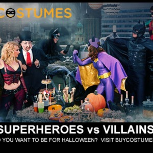 Superheroes vs Villains Halloween Costumes