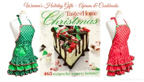 Womens Holiday Gifts – Aprons & Cookbooks!
