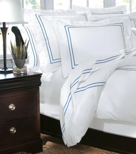 HOME DECORATORS COLLECTION HOTEL EMBROIDERED DUVET COVER
