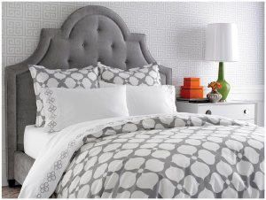 Jonathan Adler Hollywood Duvet Cover, how to put a down comforter into a duvet cover