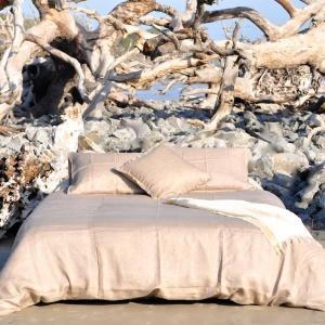 Lilo Feather Grey Premium Linen Duvet Set