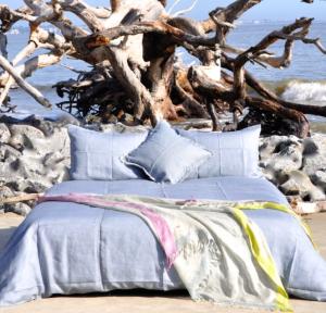Lilo Winter Grey Premium Linen Duvet Set, how to put a comforter into a duvet cover