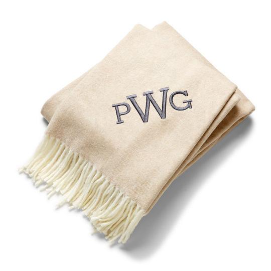 herringbone monogram throw blankets, Give the Gift of Warmth