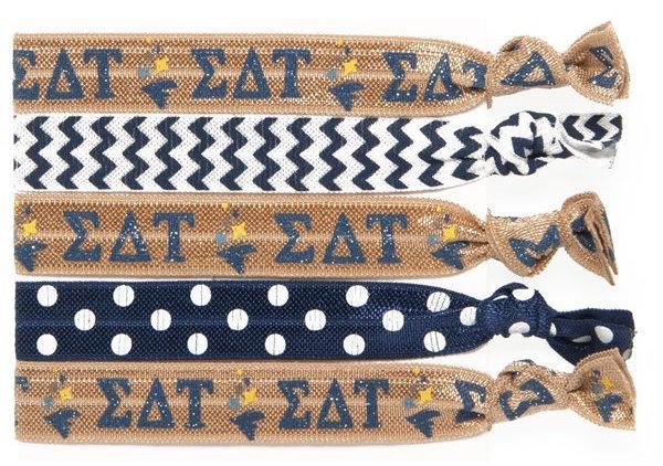 Sigma Delta Tau Hair Tie Pack, GRΣΔΤ Sigma Delta Tau Gifts