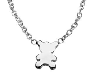 silver teddybear necklace, GRΣΔΤ Sigma Delta Tau Gifts