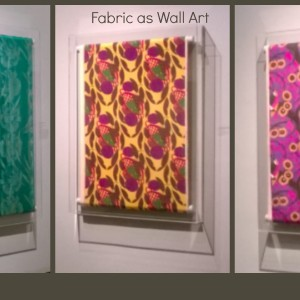 Fabric as Wall Art