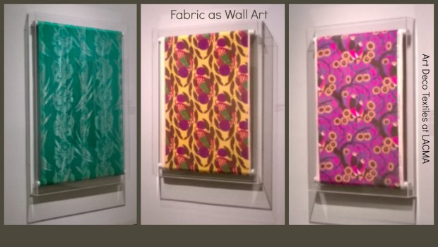 Fabric as Wall Art