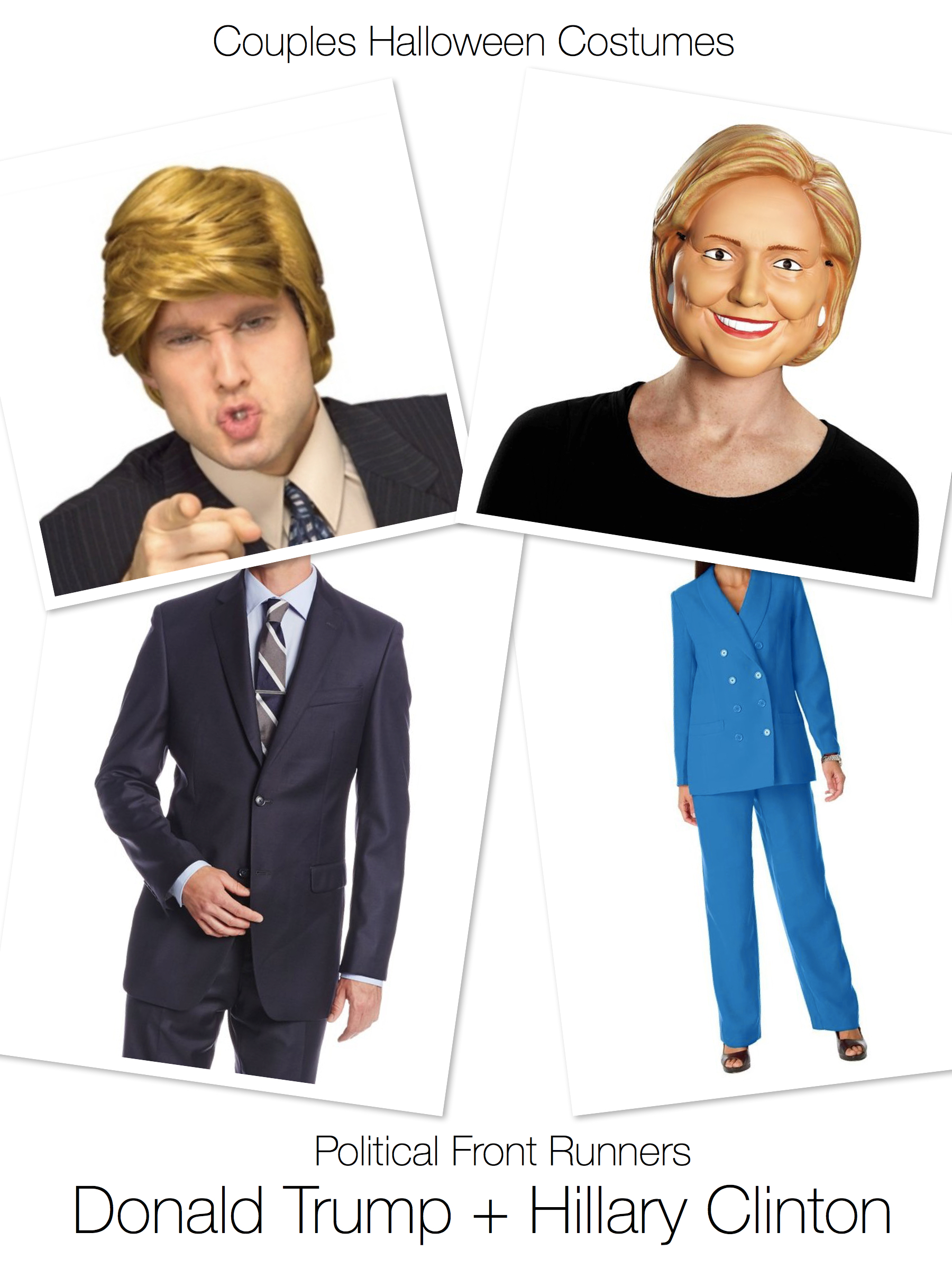 couples halloween costumes donald trump hillary clinton