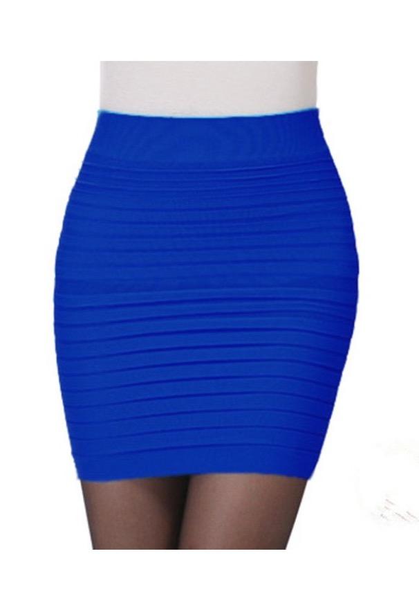 Sexy blue skirt
