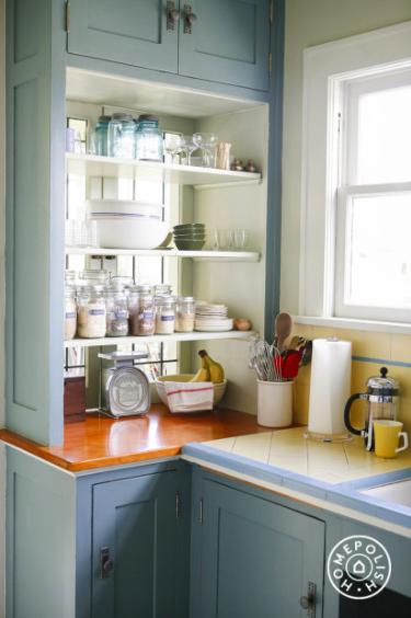 glass back kitchen cabinet, Kitchen Makeover