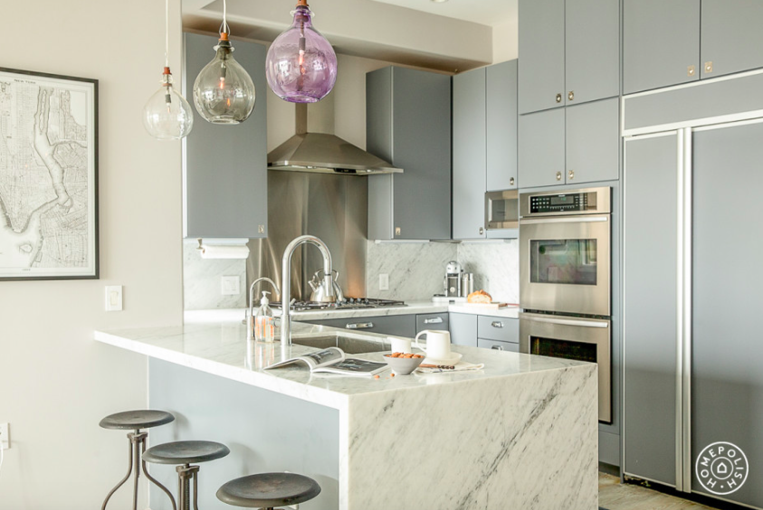matte gray kitchen cabinets, 9 Tips For a Fuss-Free Kitchen Makeover