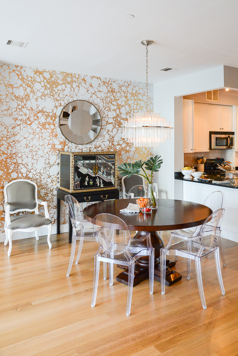 Home polish kitchen -nook chandelier and mirror, Home Lighting Inspiration