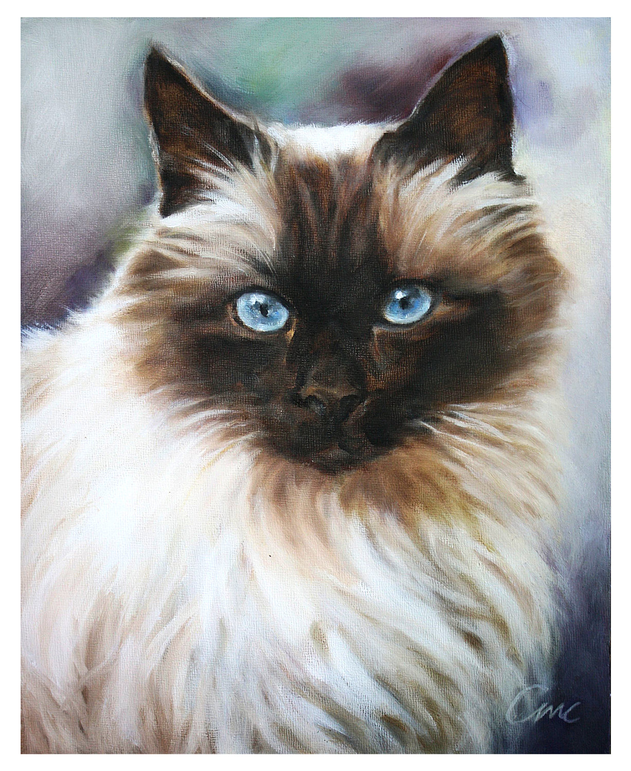 Custom Cat Portrait, Celebrate Cat Cuteness