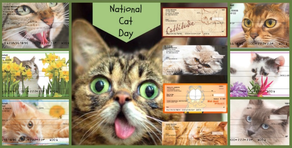 National Cat Day Checks, Celebrate Cat Cuteness