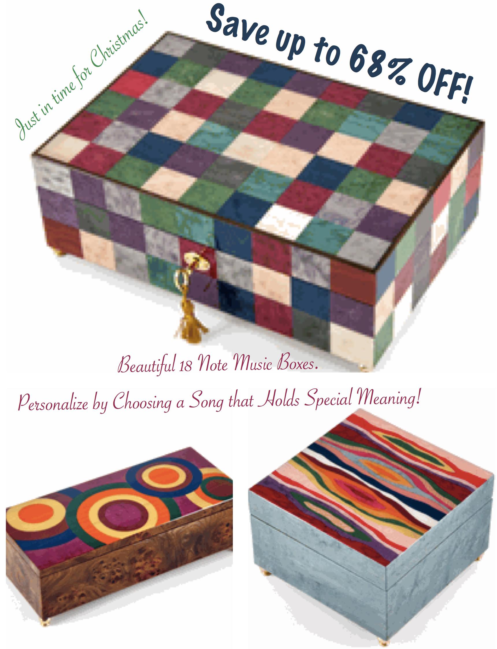 Beautiful Music Box Christmas Presents, Beautiful Musical Jewelry Boxes