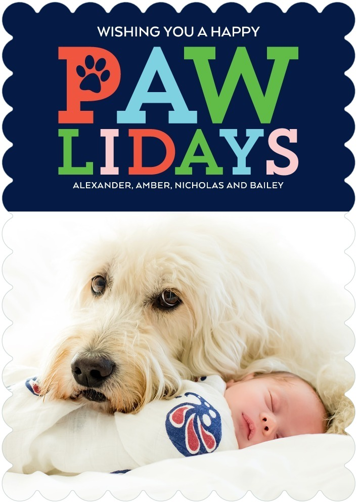 Pawliday Wishes Pet Christmas Cards