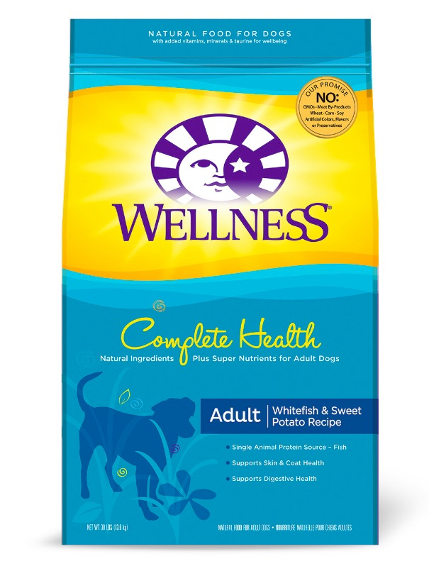 Wellness Complete Health Whitefish and Sweet Potato Adult Dog Food