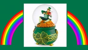 Best Leprechaun Gift Musical Leprechaun Water Globe
