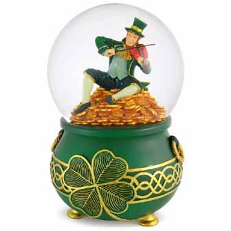 leprechaun gift, St Patrick's Day Musical Leprechaun Water Globe, st patrick's day gift ideas