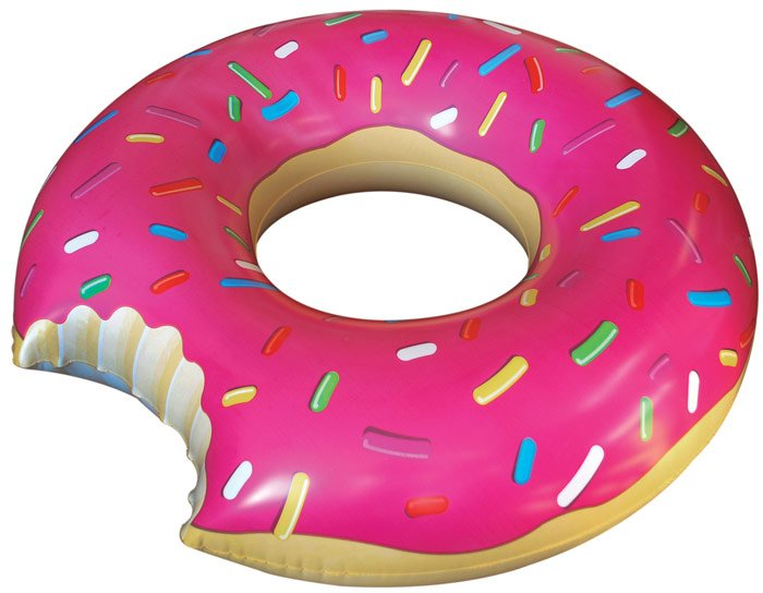 Giant Strawberry Donut Pool Toy