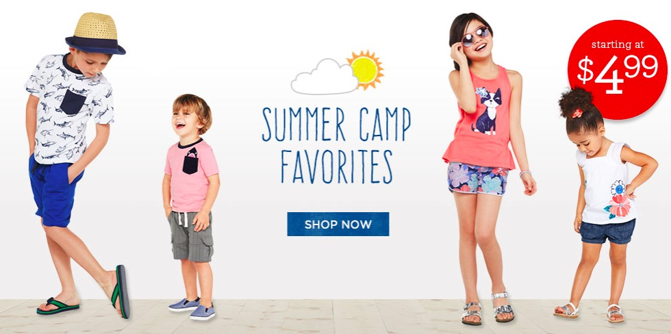 Gymboree Summer Camp Favorites Sale