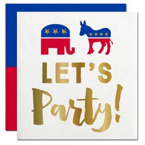 Elephant & Donkey Election Day Party Cocktail Napkins