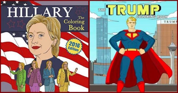 Trump Clinton 2016 Presidential Campaign Coloring Books