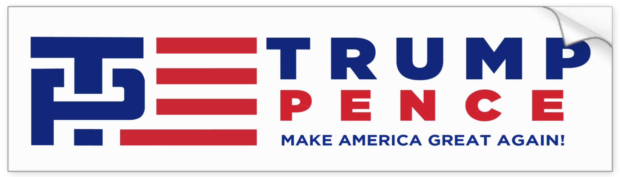 Donald Trump Mike Pence 2016 Presidential Campaign Bumper Stickers