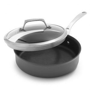 Sur La Table Dishwasher-Safe Hard Anodized Nonstick Sauté Pan
