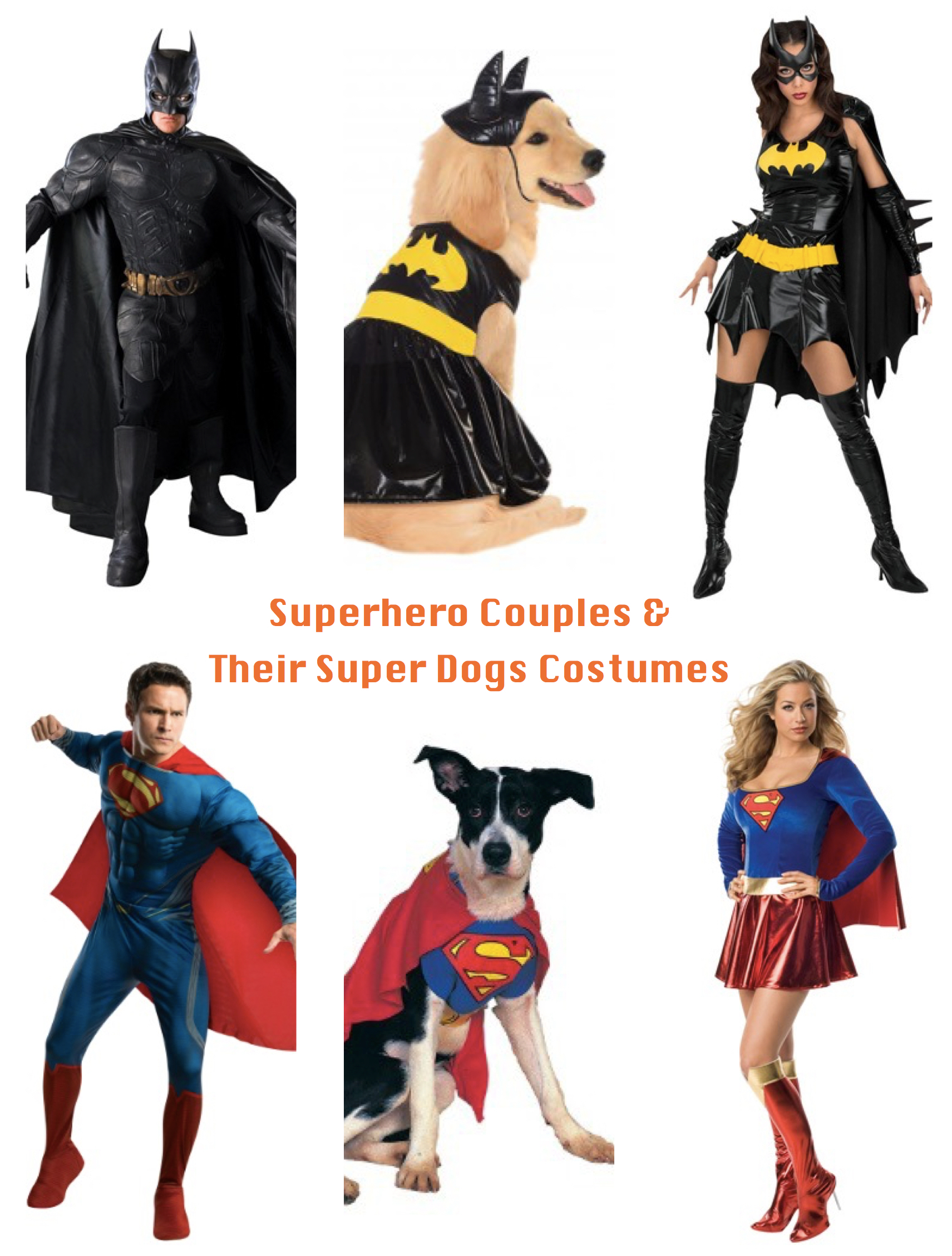 Superhero Couples & Their Super Dogs Halloween Costumes