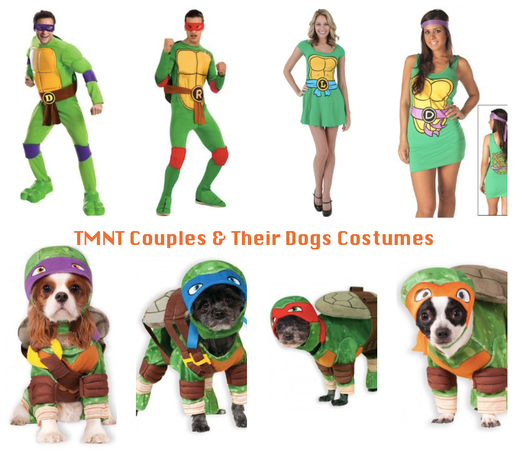 TMNT Couples & Their Dogs Costumes