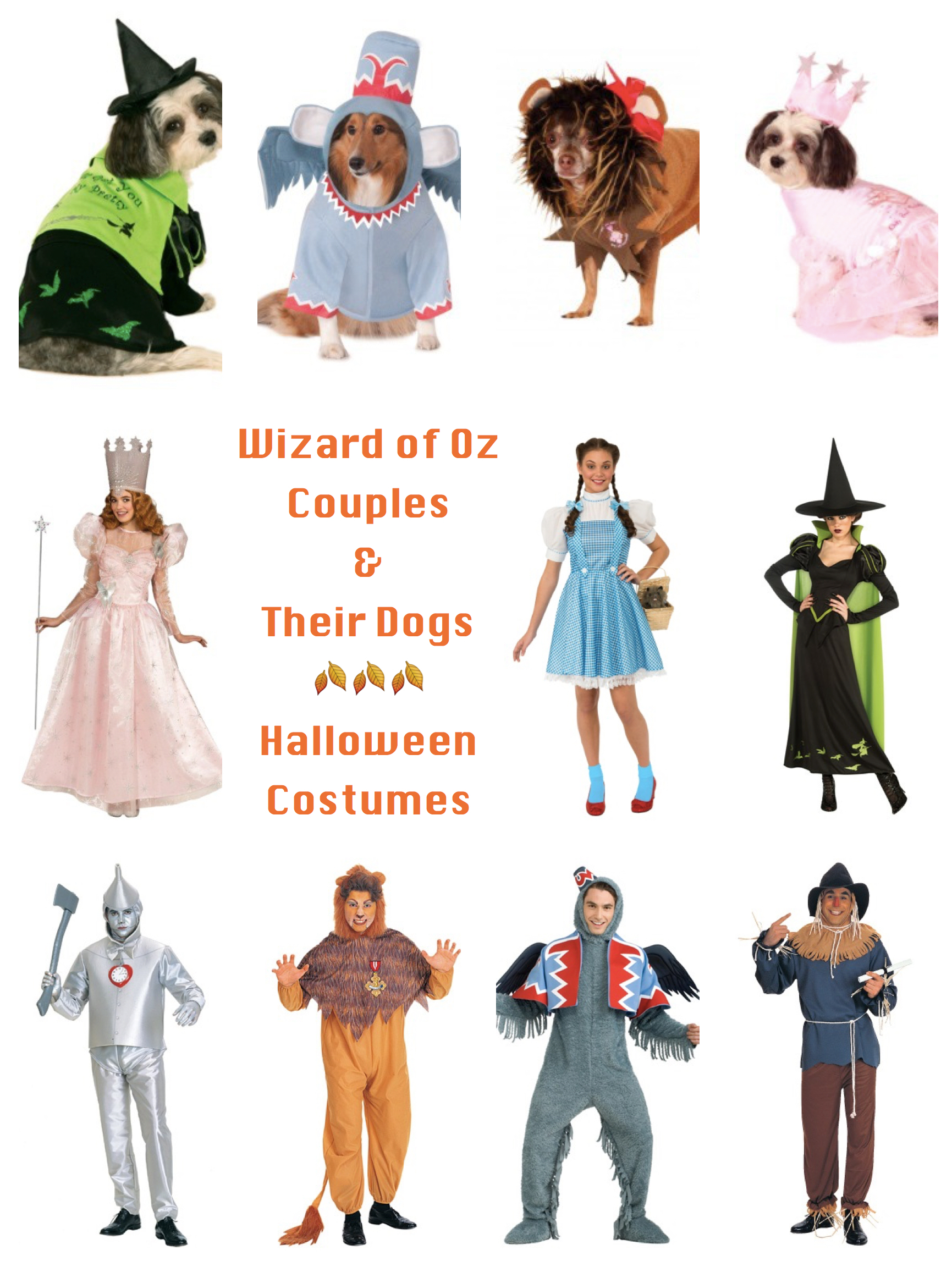 Wizard of Oz Couples Costumes and Their Dogs Costumes