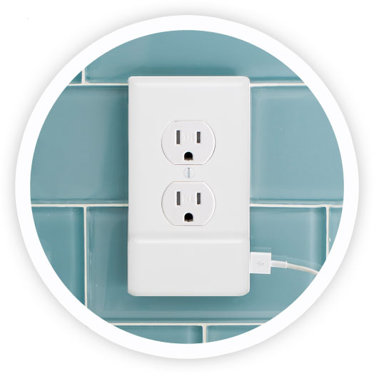 SnapPower Outlet Cover USB Chargers