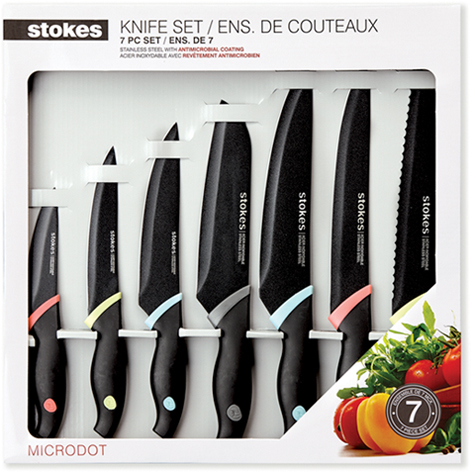 Today Show Steals And Deals Cooking Mikasa Entertaining Collection Stokes Microdot 7 Piece Knife Set