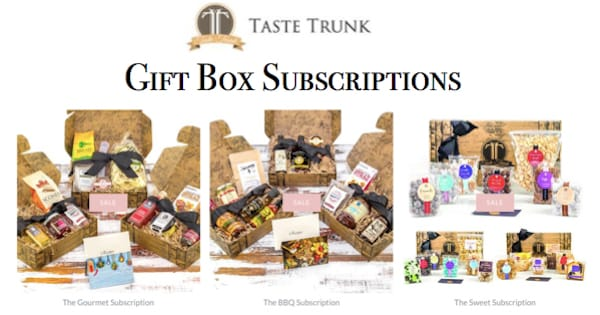 Taste Trunk Gift Box Subscriptions