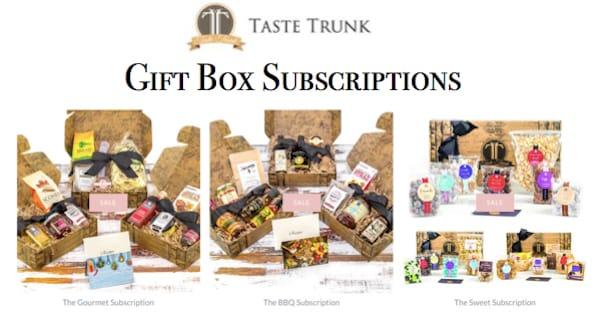 Taste Trunk Gift Box Subscriptions