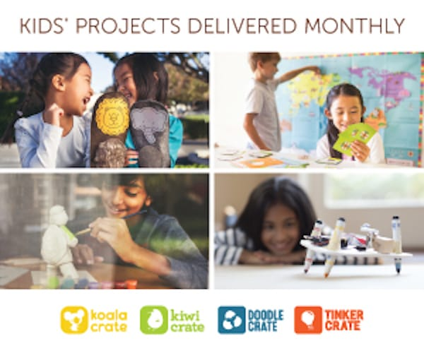 kids projects delivered monthly