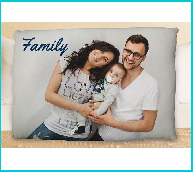 Oversized Personalized Photo Pillows