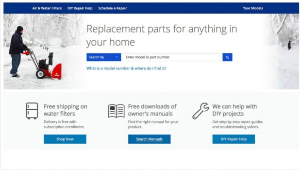 Sears Parts Direct Replacement Parts Finder