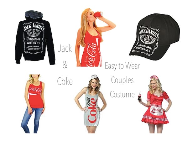 Jack & Coke Last Minute Easy to Wear Couples Costume