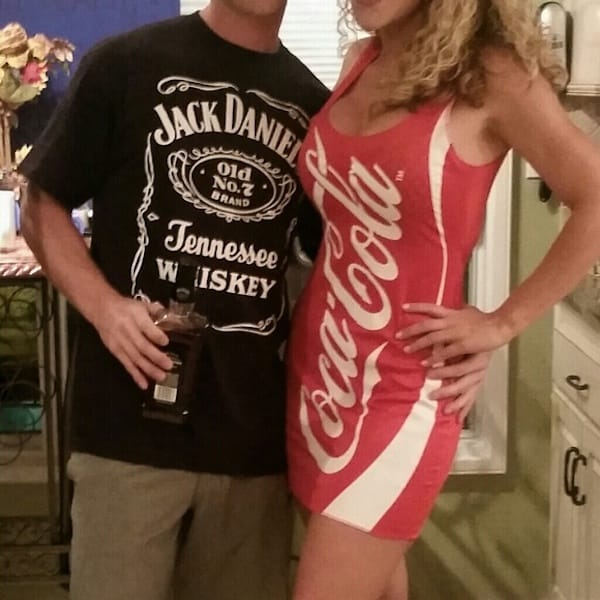 Last Minute Jack and Coke Couples Halloween Costumes