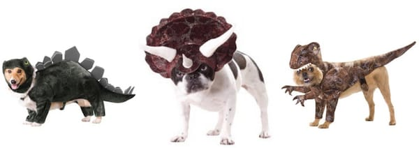 Triceratops Raptor Stegosaurus Pet Dog Costumes