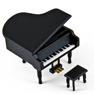 Baby Grand Music Box Piano With Bench on @mygreatgets