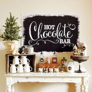 Hot Chocolate Bar Holiday Party