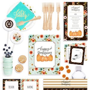 Thanksgiving Table Decorations and Party Supplies in a Box