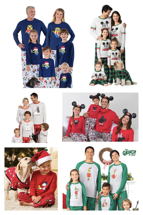 Family Matching Christmas Character PJs