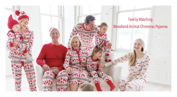 Family Matching WoodlandAnimal Christmas Pajamas