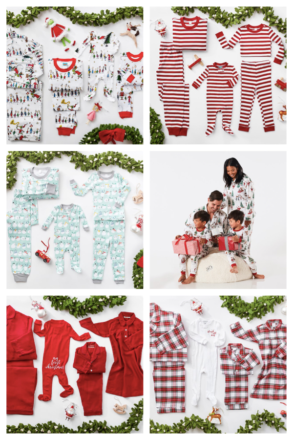 Pottery Barn Kids Holiday Pajama Collection