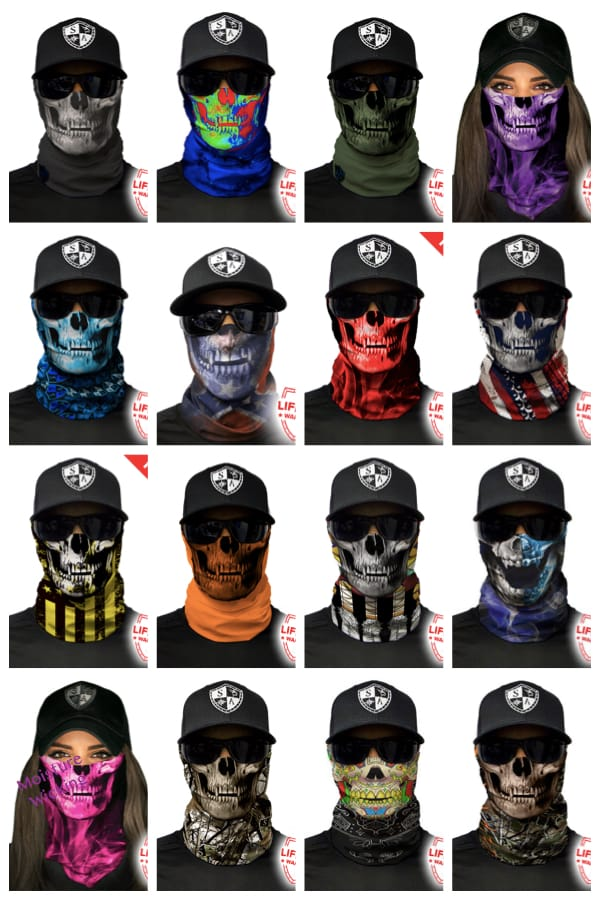 Lightweight Breathable Incredibly Creepy Face Shield Skull Masks