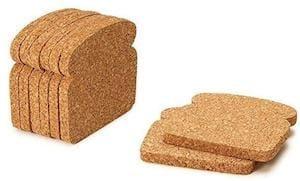 cork toast coasters